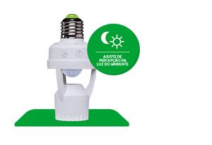Função Fotocélula Sensor de presença para iluminação para Soquete E27 ESP 360 S Intelbras