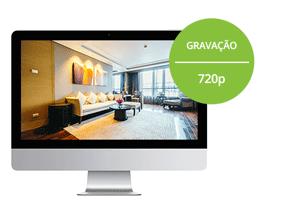 Resolução HD em todos os canais com o DVR Giga Security HD 4 canais GS0082 4em1 720p