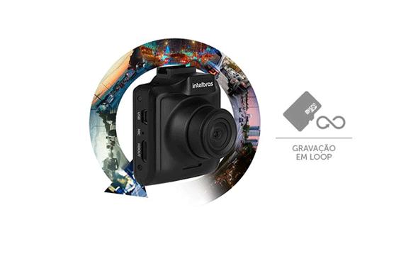 Câmera Veicular Intelbras Full HD Duo DC 3201 1080p com Microfone com Gravação em loop