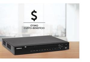 Gravador Intelbras 32 canais com melhor custo benefício do portfólio com o DVR Intelbras Full HD 32 canais MHDX 3132 Multi HD 5MP Lite