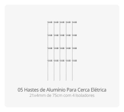 Hastes de Alumínio para Cerca Elétrica
