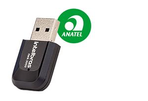 Homologado pela Anatel do Adaptador USB wireless com antena externa IWA 3000 Intelbras