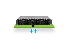 Hot swap com o Chassi para Conversor de Mídia Intelbras KX 1400 R com 14 Portas para Rack 19