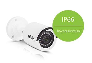 Câmera Giga Security HD GS0020 Multi HD IR 20m 720p  com IP66: Proteção contra Sol e chuva