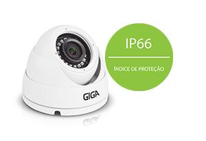 Câmera Giga Security Orion Ultra HD GS0046 Multi HD IR 30m 5 Megapixelscom IP66: Proteção contra Sol e chuva