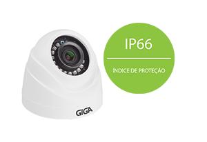 Câmera Giga Security HD GS0019 Multi HD IR 20m 720p  com IP66: Proteção contra Sol e chuva