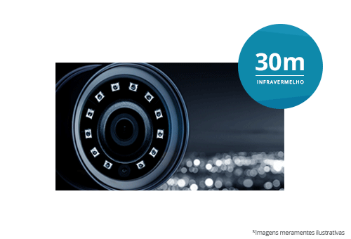 Câmera Bullet AHD 720p IR 30 metros com infravermelho de 30 metros de alcance