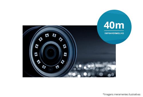 Câmera Dome Hikvision DS-2CE56C0T-VFIR3F HD 720p IR40M com infravermelho de 40 metros de alcance