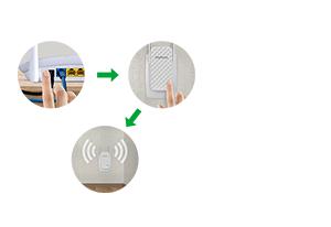 Instalação fácil em 2 toques com o Repetidor de Wi-Fi N300 Mbps IWE 3001 Intelbras