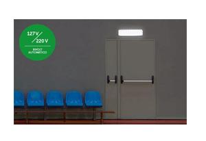 Instalação facilitada e sem necessidade de adaptações com a Luminária de Emergência Autônoma Intelbras LEA 30