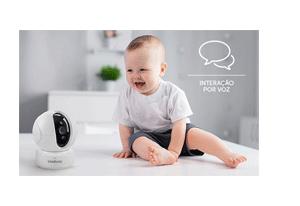 Interação por voz  da Câmera Intelbras Wi-Fi HD iC4 720p 360º IR 10m