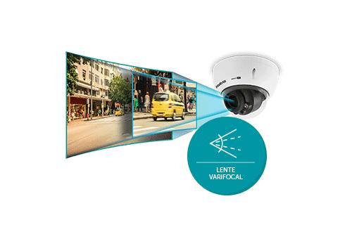 Lente Motorizada com a Câmera Intelbras Varifocal VHD 3230 D VF G4 Multi HD Full HD 1080p