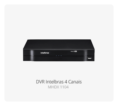 DVR Intelbras MHDX 1004 04 Canais HD