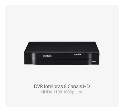 DVR Intelbras MHDX 1108 08 Canais Full HD