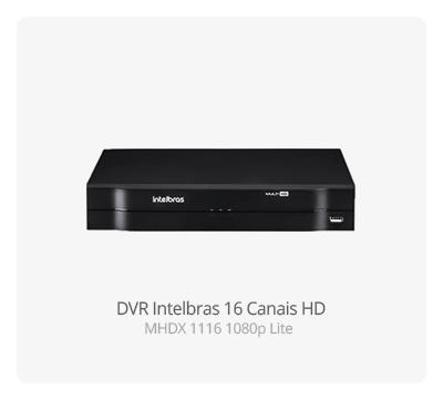 DVR Intelbras MHDX 1116 16 Canais 1080p Lite