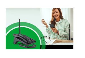MP3 Player com o Telefone Celular Fixo Intelbras com Wi-Fi 3G CFW 8031