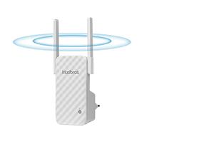 Mais alcance com 2 antenas externas da Repetidor de Wi-Fi N300 Mbps IWE 3001 Intelbras