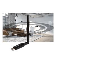 Mais alcance de sinal do Adaptador USB wireless com antena externa IWA 3001 Intelbras