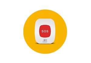 Mais aplicações com a Pulseira de dispositivo de pânico Sec Care JFL