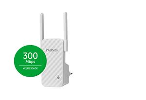 Mais potência com 300 Mbps da Repetidor de Wi-Fi N300 Mbps IWE 3001 Intelbras
