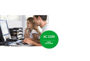 Mais velocidade do Adaptador USB wireless dual band Action A1200 Intelbras