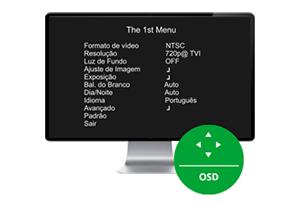 Menu OSD da VHD 3220 D G4 Intelbras