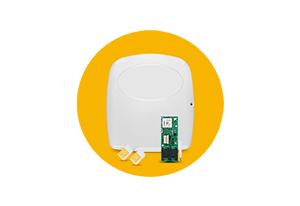 Módulo GPRS com a Central de Alarme JFL Monitorável Active 20 GPRS Modular 20 Zonas)