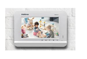 Monitoramento de câmeras das áreas comuns do condomínio com o Terminal de Vídeo IP Intelbras TVIP 500 HF
