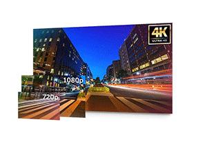 Muito mais resolução na gravação com o DVR Intelbras Ultra HD 8 canais MHDX 5208 Multi HD 4K