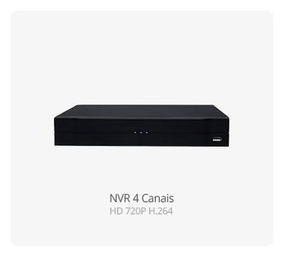 NVR 4 Canais HD 720P H.264
