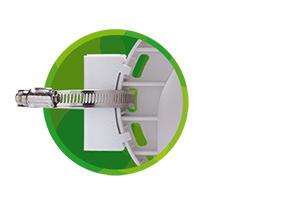 Novo suporte de fixação direcional do Rádio Outdoor CPE/PTP APC 5A-20 5 GHz com 20 dbi MiMo 2x2 Intelbras