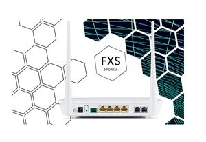 Produto completo com portas Giga e SFP com o Roteador WiFi Intelbras GPON 4 Portas GE 2 Portas FXS ONT 142N W