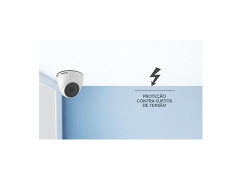Proteção contra surtos de tensão Câmera Intelbras HD VHL 1010 D HDCVI Lite 720p IR 10m