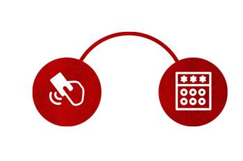 Duas opções de acesso da iDAccess da Control ID