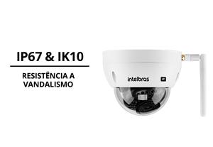 Proteções da Câmera Intelbras IP Wi-Fi HD VIP 3430 D W 4MP