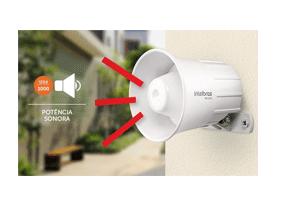 Segurança em alto e bom som com a Sirene Intelbras com Fio SIR 1000 Preta 9 a 15 VDC/105 dB