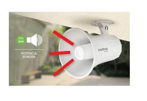 Segurança em alto e bom som com a Sirene Intelbras com Fio SIR 3000 9 a 15 VDC/120 dB