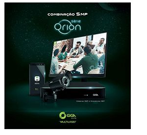 Série Orion com o DVR Giga Security Orion Full HD 16 canais GS0182 Multi HD 1080p