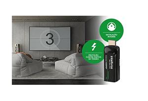 Seu equipamento mais durável com o Extensor HDMI Alcance até 50m Intelbras VEX 1050 HDMI