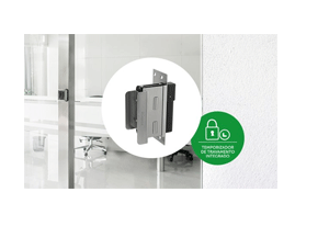Temporizador de travamento integrado com a Fechadura Solenoide Intelbras FS 3010 A Fail Safe para Vidro x Alvenaria