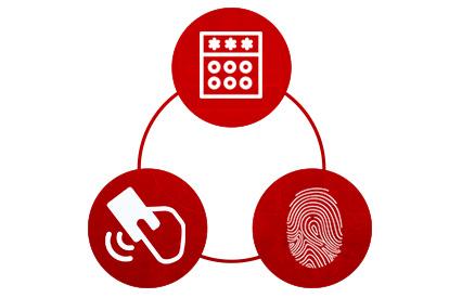Três opções de acesso da iDAccess da Control ID