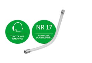 Tubo plástico rígido removível e reversível do Headset Intelbras THS 55 QD