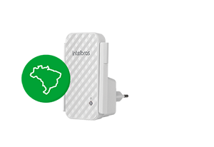 Tudo em português com o Repetidor de Wi-Fi N300 Mbps IWE 3001 Intelbras