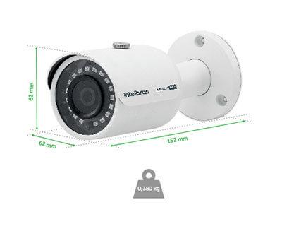 Dimensões da Câmera VHD 3230 Intelbras