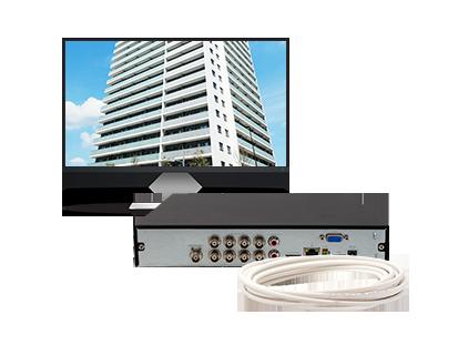 Saída de vídeo BNC analógica do DVR MHDX 3004 4 canais Intelbras