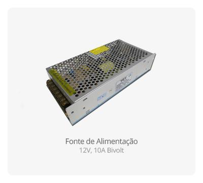 Fonte de Alimentação para CFTV - Sistema de Segurança