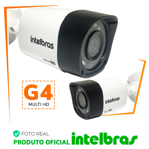 Câmera Intelbras Bullet Multi HD 1120B G4 Alta Definição - foto real tamanho 500x500