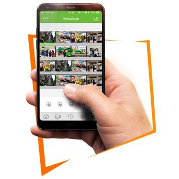 Imagem do aplicativo em um celular
