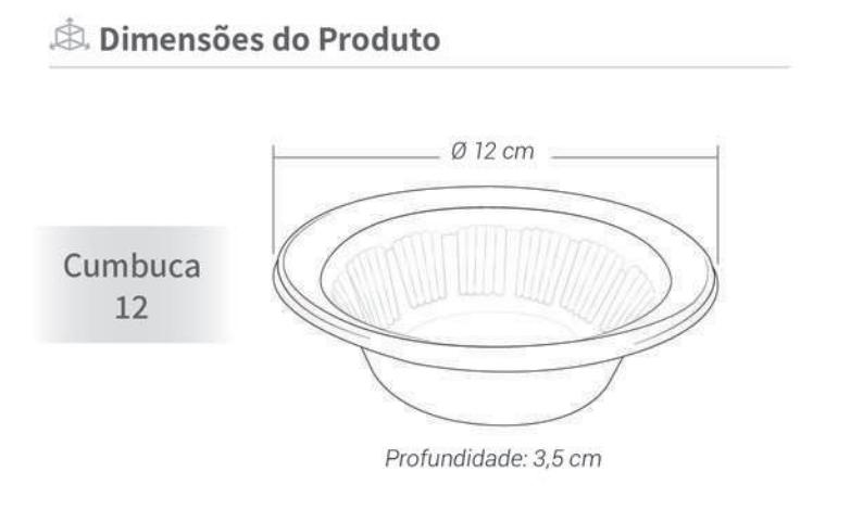 Cumbuca Descartável 12 cm