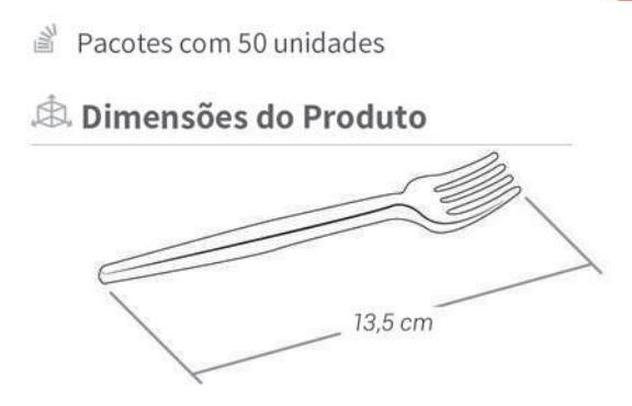 Garfo Descartável de Plástico Sobremesa